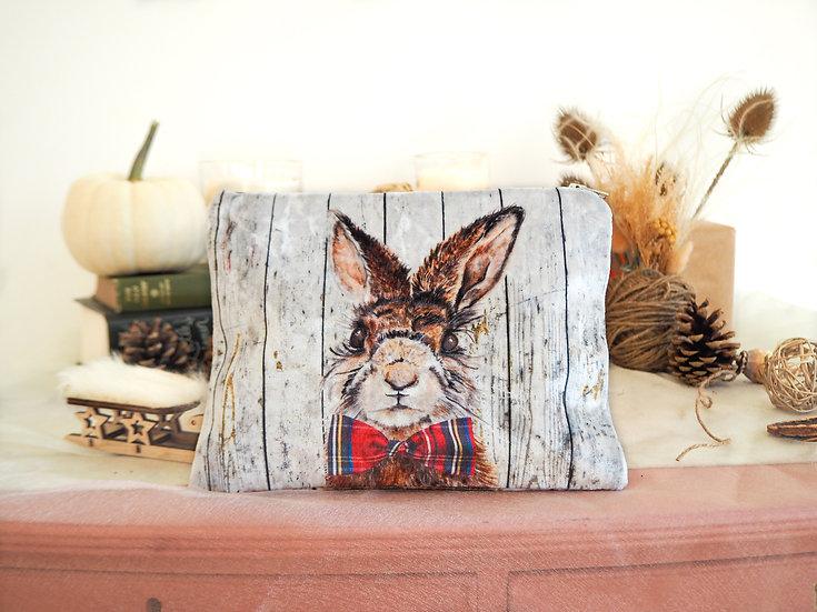 Mr Hare Velvet Pouch