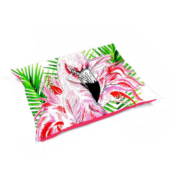 Luxury Velvet Printed Flamingo Bean Bag
