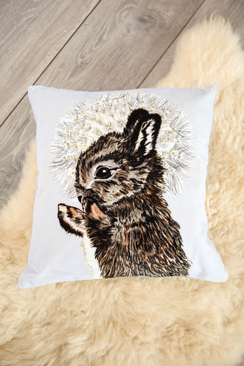 velvet rabbit cushion