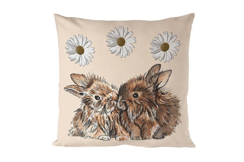 Cuddling Bunnies Cushion