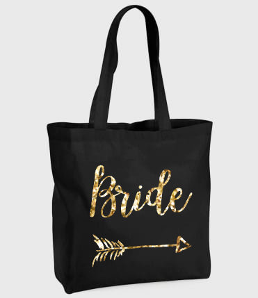 'Bride' Black Tote Bag