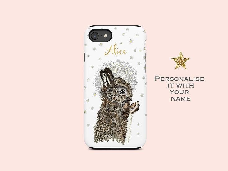 Rabbit and Dandlion phone Case