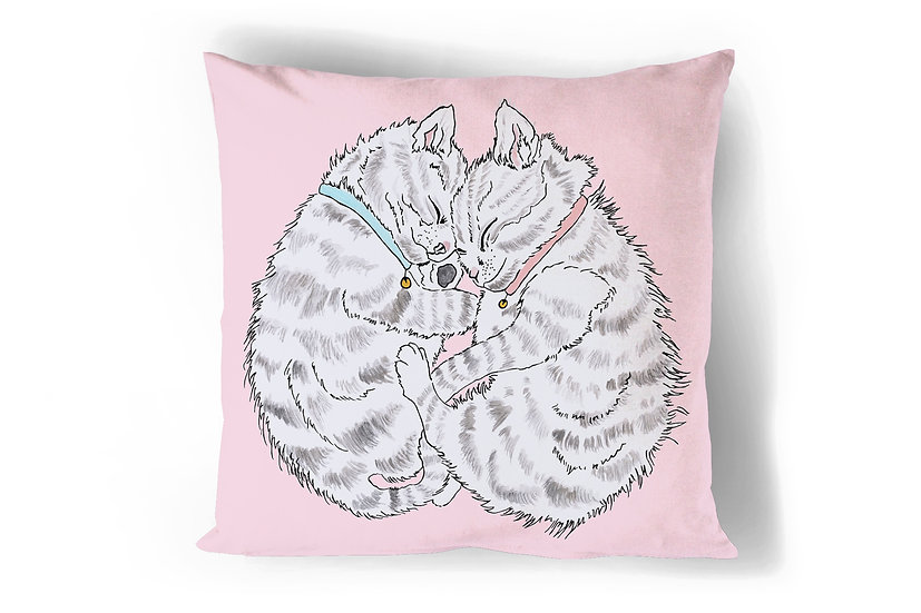 Sleeping Kittens Cushion Cover