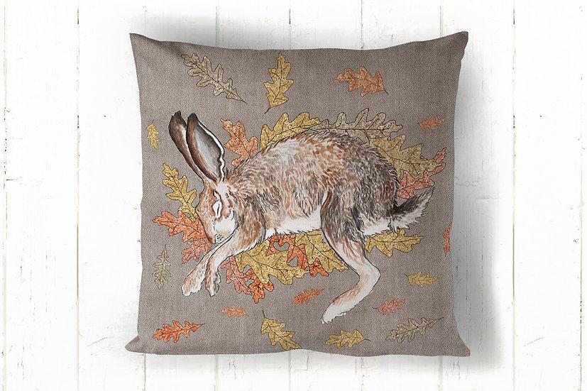 Sleeping Hare Cotton Cushions