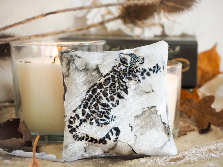 Snow Leopard Velvet Lavender Bag