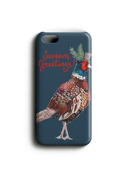 Seasons Greetings Pheasant Phone Case