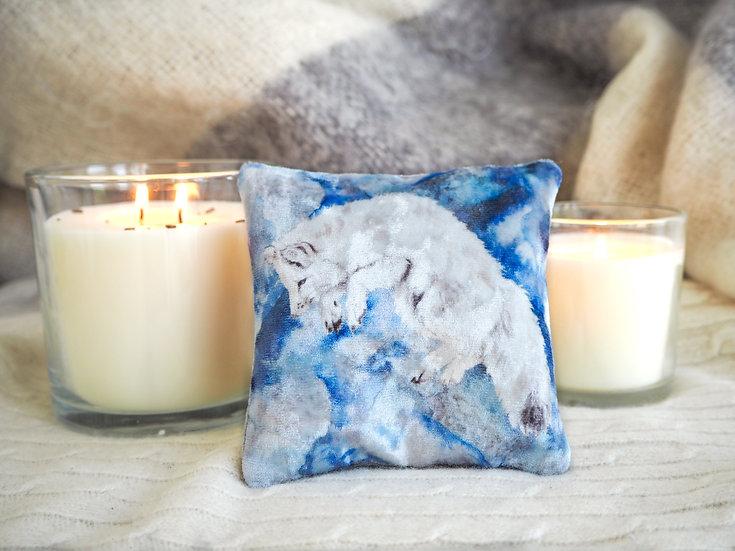Snow Fox Velvet Lavender Bag