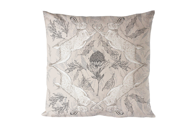 Hare and Thistle Cushion