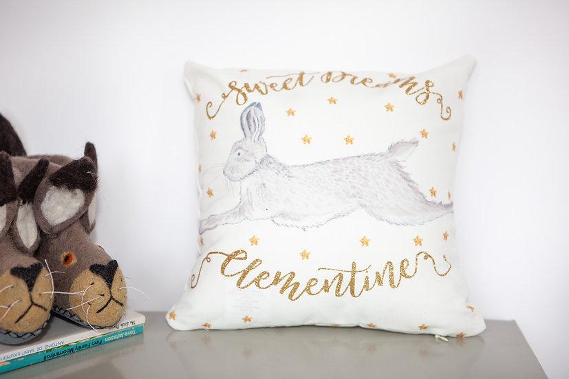 Personalised Hare Mini Cushion