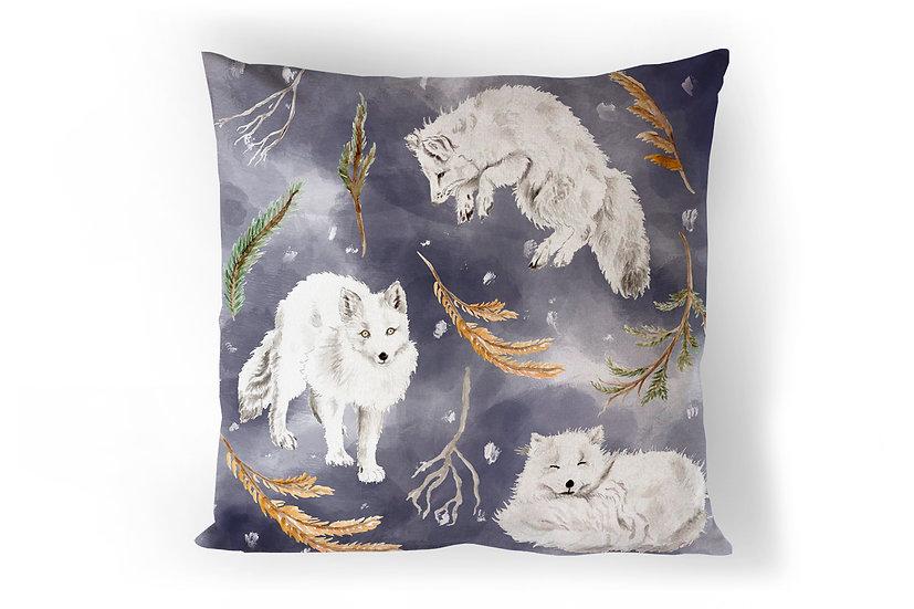 Snow Foxes Cushion