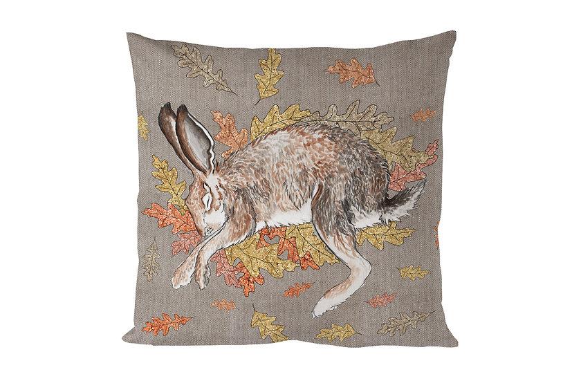 Sleeping Hare Cotton Cushion