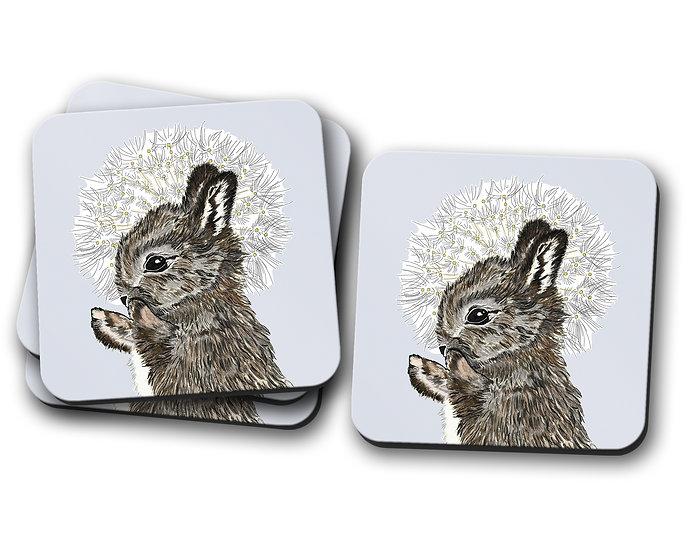 Rabbit and Dandelion Coaster