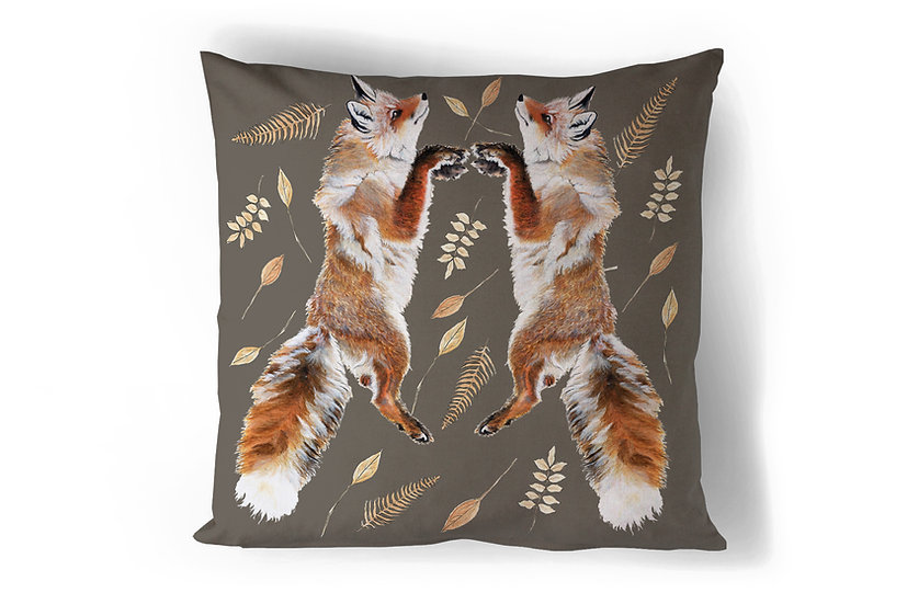 Leaping Foxes Cushion
