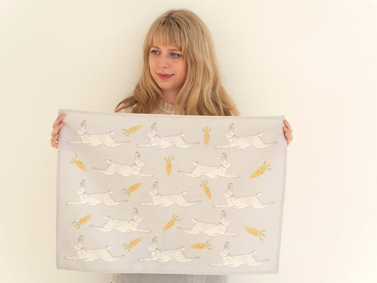 Leaping Hare Tea Towel