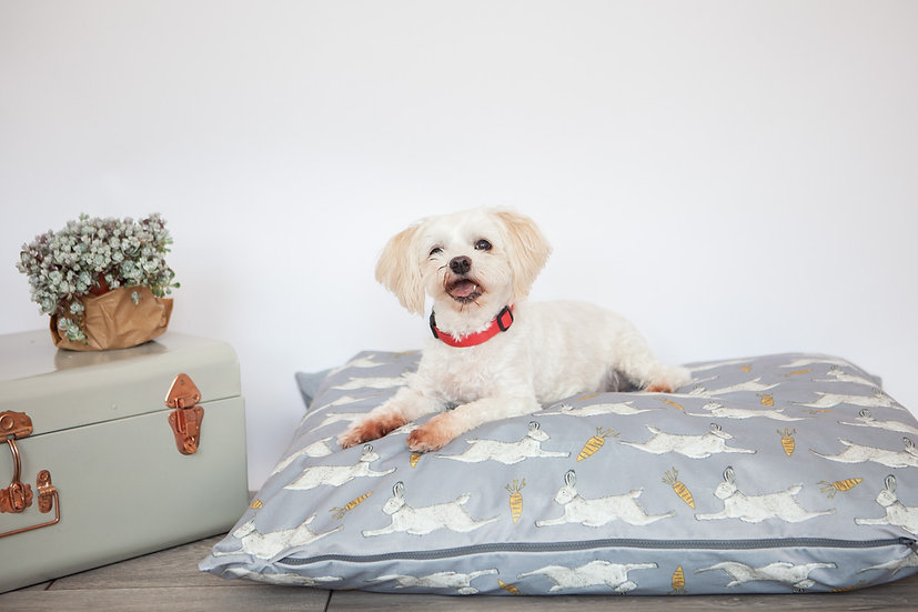 Personalised Dog Bed - Hare Print