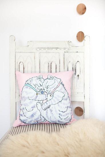 Pink Kittens Mini Cushion