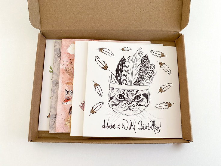 Greeting Card Surprise Box - Set of Mixed Cards