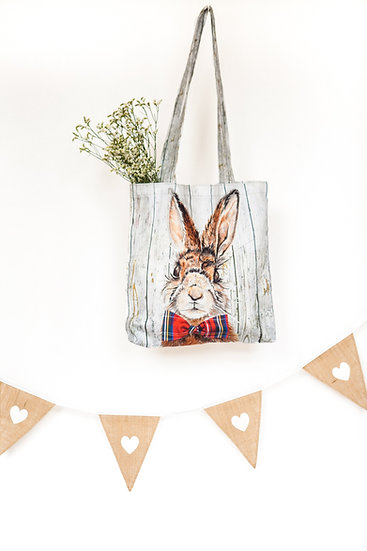 Mr Hare Printed Shopping Tote Bag Holdall