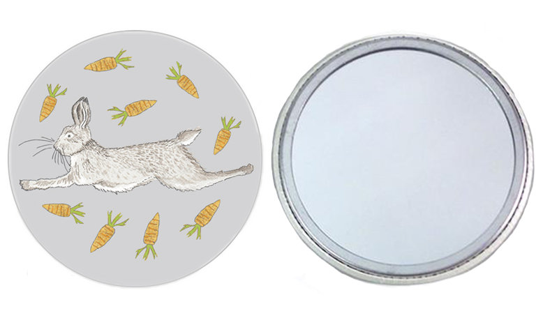 Leaping Hare Pocket Mirror
