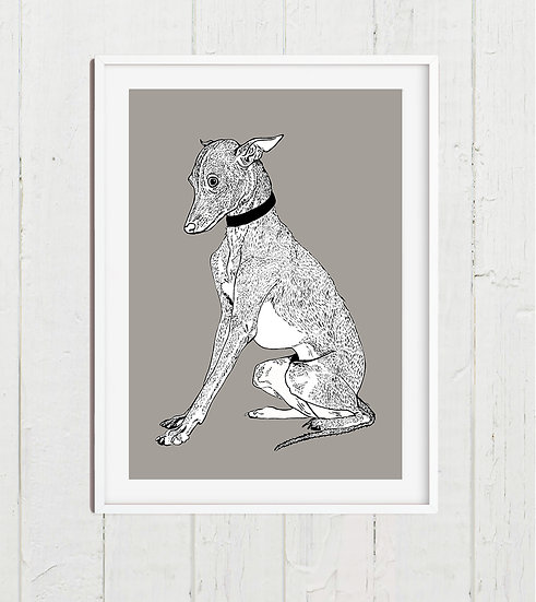 A4 Whippet Print