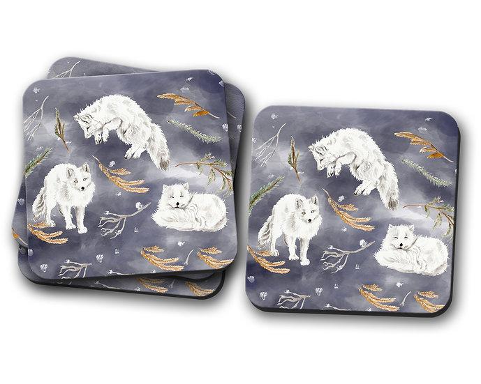 Snow Fox  Coasters