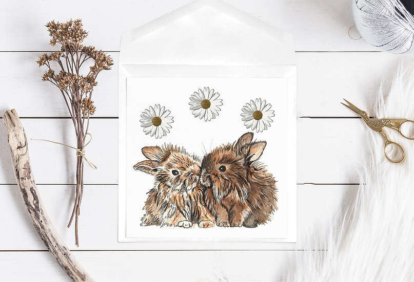 Bunny Love Greetings Card