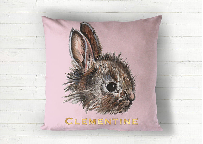 Baby Bunny Velvet Floor Cushion