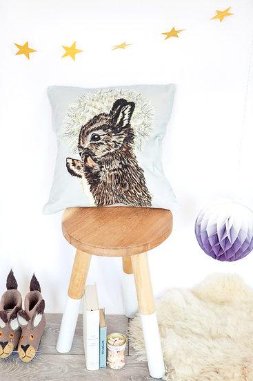 Velvet Rabbit and Dandelion Luxury Cushion