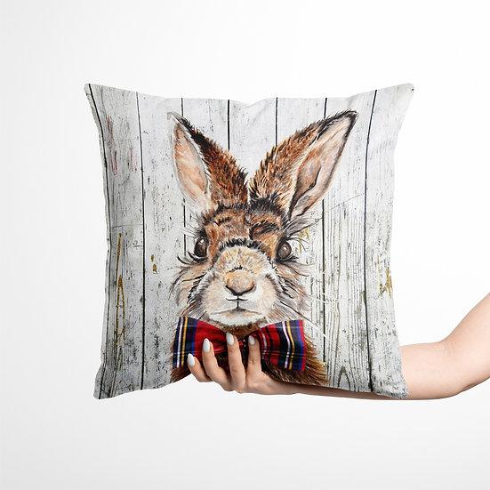 Mr Hare Velvet Cushion