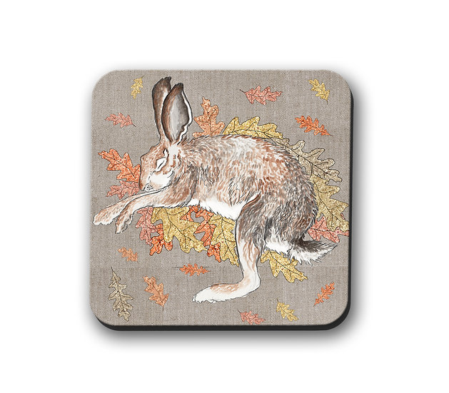 Sleeping Hare Drinks Coaster