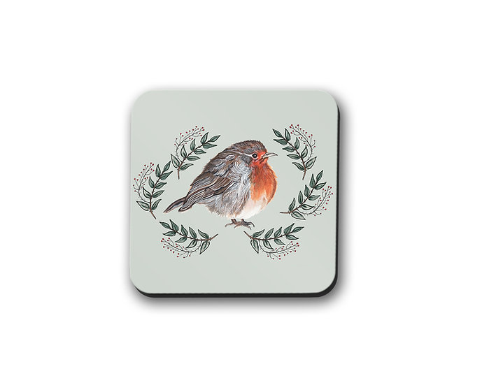 Robin Drinks Coaster