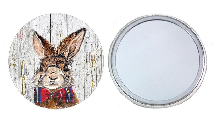 Mr Hare Pocket Mirror