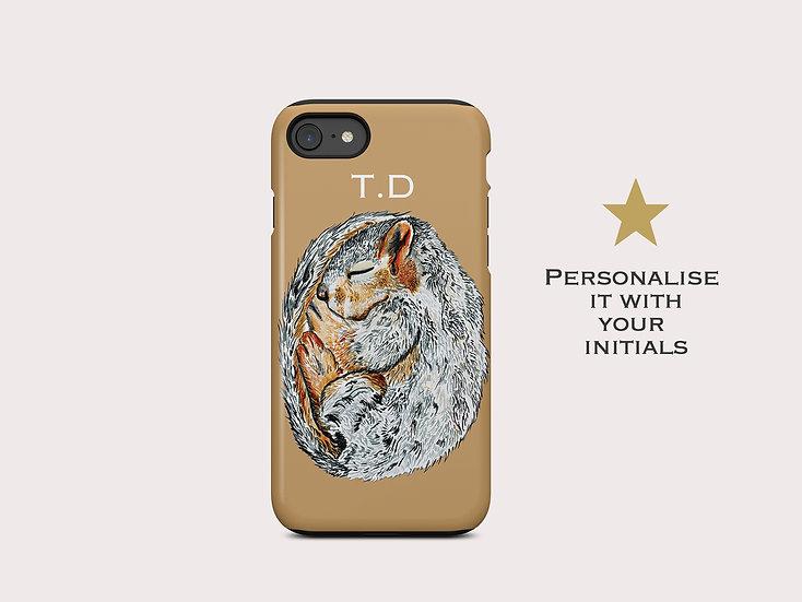 Sleeping Squirrel iPhone Case