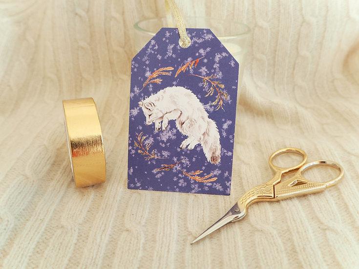 Snow Fox Gift Tag