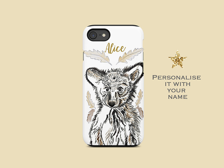 Woodland Bear iPhone Case