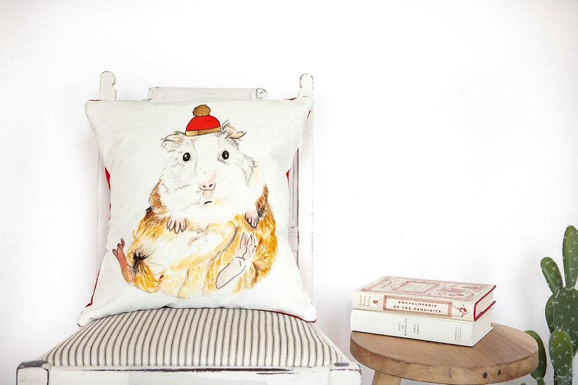Velvet Guinea Pig Cushion