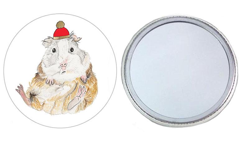 Guinea Pig Pocket Mirror