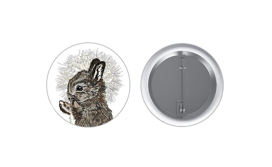 Rabbit and Dandelion Badge