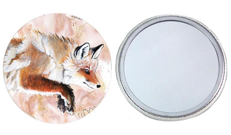 Leaping Fox Pocket Mirror