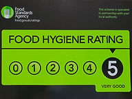 food hygiene award certificate 28th Sept