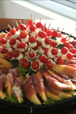cheese and tomato platter