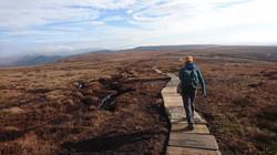 Walking the flagstones of Brown Knoll, Peak district