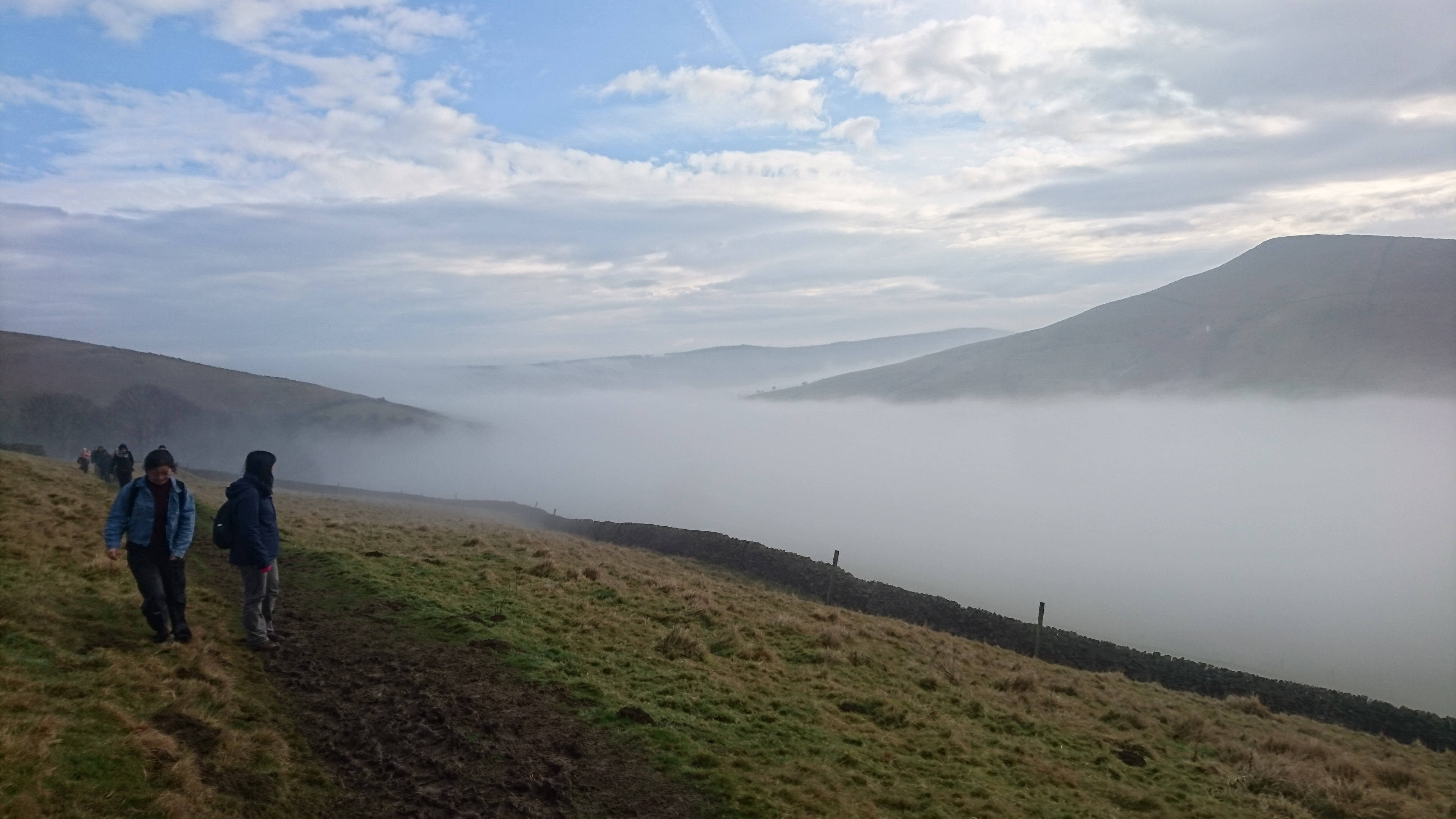 Cloud inversion in the peak district