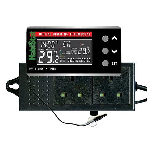 HabiStat Digital Dimming Thermostat, Day/Night, Timer, 600 Watt