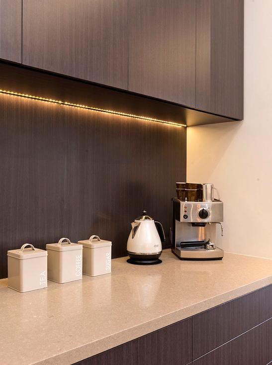 Contemporary Chocolate Kitchen