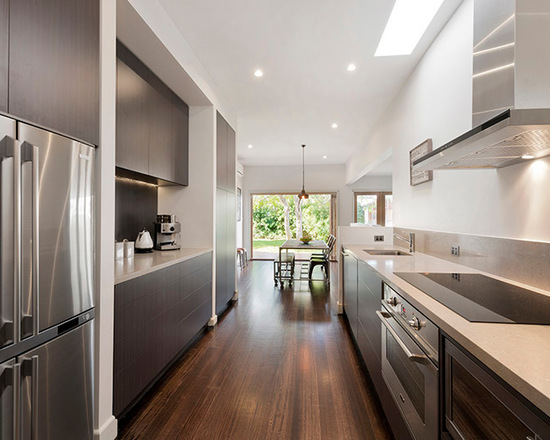 Contemporary Chocolate Kitchen