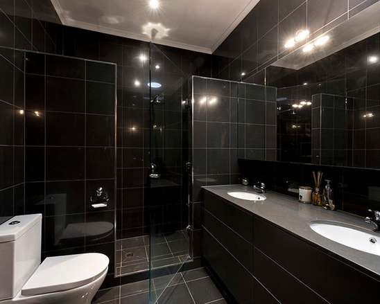 Contemporary Black Bathroom