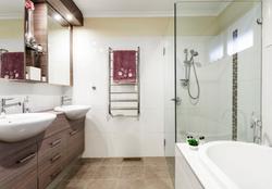 Contemporary Chocolate Bathroom
