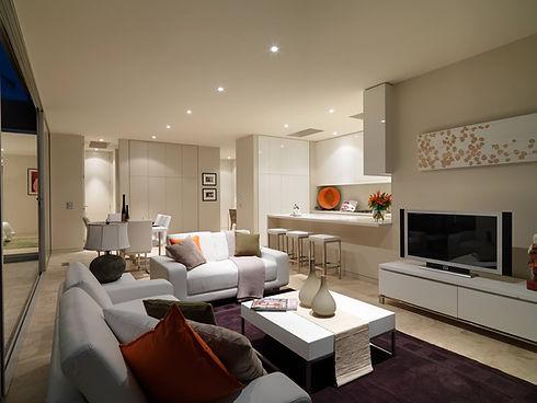 A white contemporary kitchen design