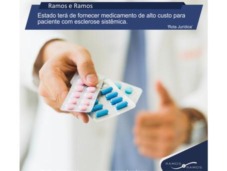 Estado terá de fornecer medicamento de alto custo para paciente com esclerose sistêmica